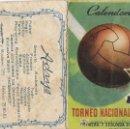 Coleccionismo Calendarios: TORNEO NACIONAL DE LIGA PRIMERA Y SEGUNDA DIVISION. Lote 4820582