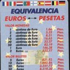Coleccionismo Calendarios: CALENDARIO PUBLICITARIO - TEMA EURO 2002. Lote 4856118