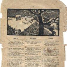 Coleccionismo Calendarios: CALENDARIO DEL PAYÉS DE 1912. Lote 26585750