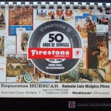 Coleccionismo Calendarios: CALENDARIO FIRESTONE AÑO 1982 CELEBRANDO LOS 50 AÑOS DE SERVICIO. Lote 27221640