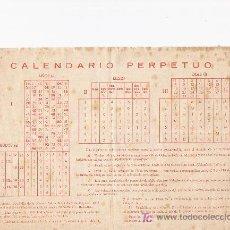 Coleccionismo Calendarios: CALENDARIO PERPETUO. Lote 14935757