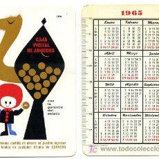 Coleccionismo Calendarios: CALENDARIO FOURNIER CAJA POSTAL DE AHORROS , 1965 , CAD 255. Lote 27284146