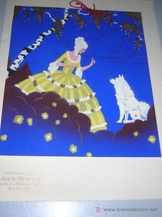 CUERPO DE CALENDARIO DE LAS PERFUMERIAS ALVAREZ GOMEZ DE MADRID AÑOS 30 (Coleccionismo - Calendarios)