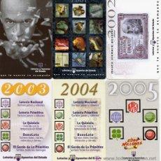 Coleccionismo Calendarios: LOTERIAS Y APUESTAS MUTUAS DEL ESTADO AÑOS 2000, 2001, 2002, 2003, 2004 Y 2005. Lote 6450467