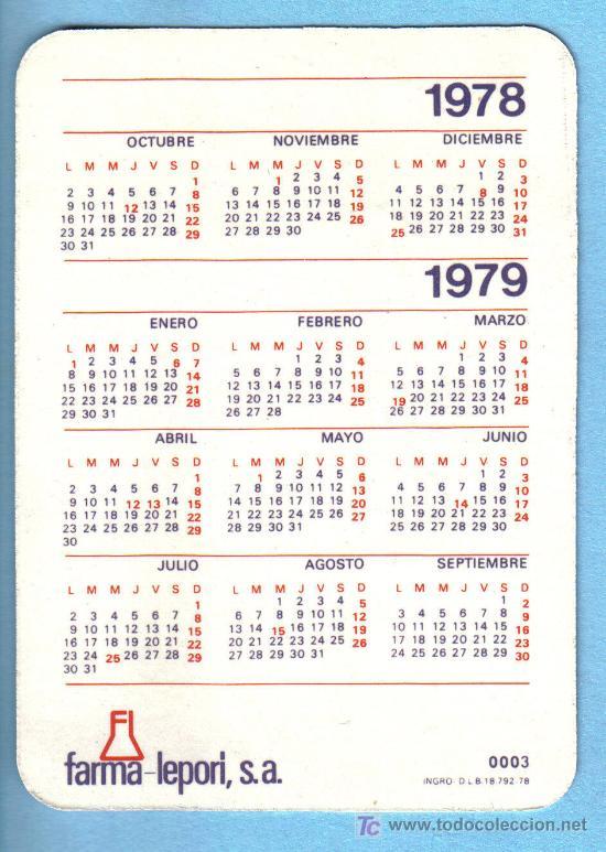 Calendario De 1978.Calendario 1978 1979 Laboratorios Farma Lepori S A