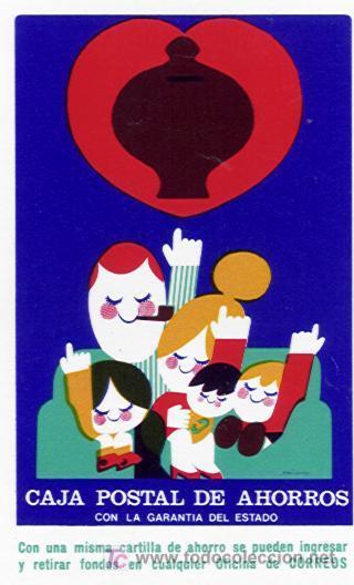 CALENDARIO FOURNIER DE LA CAJA POSTAL DE AHORROS. AÑO 1975. (Coleccionismo - Calendarios)