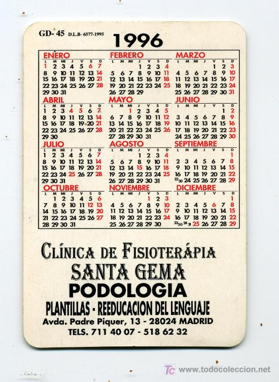 Calendario 1996.Calendario Bolsillo Metro De Madrid 1996