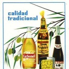Coleccionismo Calendarios: CALENDARIO FOURNIER DE ACEITE CARBONELL. AÑO 1964.. Lote 26513209