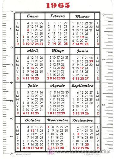 Calendario Del Ano 1965.Calendario Fournier De Aceite Carbonell Ano 1965