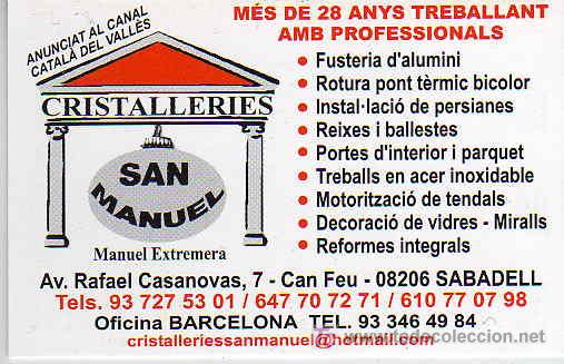 Calendario 2008.Calendario 2008 Cristalleries San Manuel Sabadell