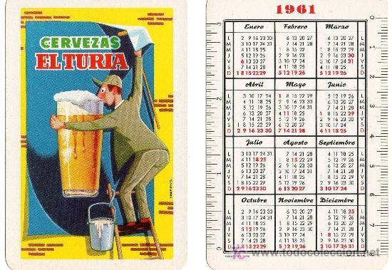 Calendario Del 1961.Cervezas El Turia Fournier Valencia Calendar Sold