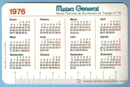 Calendario 1976.Calendario 1976 Mutua General Sold At Auction 19875969