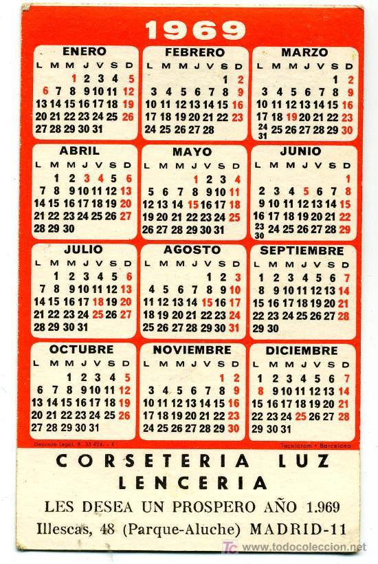 Calendario Del Ano 1969.Calendario 1969