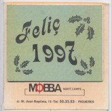 Coleccionismo Calendarios: CALENDARIO SOBREMESA 1997 - *BASCULAS MOBBA* - FIGUERES. Lote 9045641