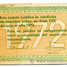 Coleccionismo Calendarios: CALENDARIO PUBLICIDAD CLUB CCC , 1972 , CAL1675. Lote 20621719