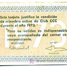 Coleccionismo Calendarios: CALENDARIO PUBLICIDAD CLUB CCC , 1973 , CAL1676. Lote 20621721