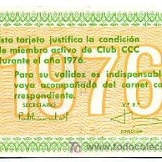 Coleccionismo Calendarios: CALENDARIO PUBLICIDAD CLUB CCC , 1976 , CAL1678. Lote 20621725