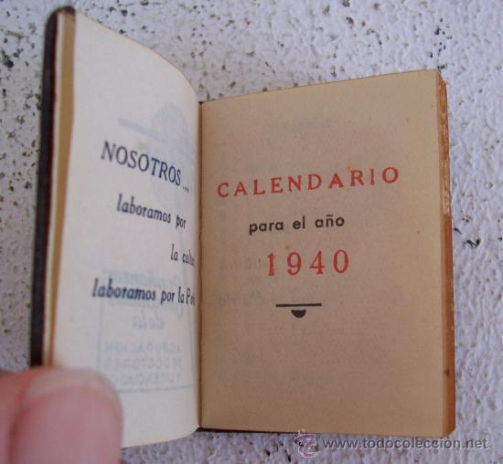Mini Calendario.Mini Calendario De 1940 Colegio Mater Ensenan Sold