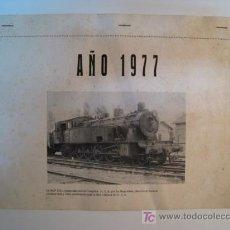 Coleccionismo Calendarios: CALENDARIO AÑO 1977 - TRENES / FERROCARRILES. Lote 8996587