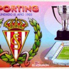 Coleccionismo Calendarios: CALENDARIO FUTBOL SPORTING 2001. Lote 9183395