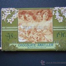 Coleccionismo Calendarios: CALENDARIO 1912 DE CHOCOLATES AMATLLER DE BARCELONA . Lote 26379014