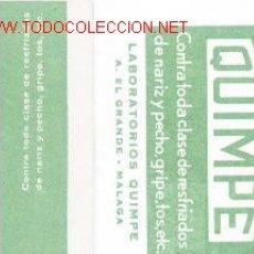 Coleccionismo Calendarios: 2 CALENDARIOS TABLETAS QUIMPE.1968 Y 1969. Lote 5443774