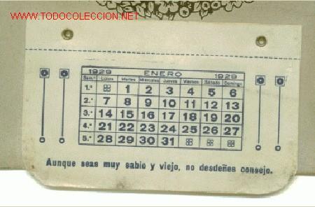 Calendario 1929.Calendario Cuello Simplex Y Campeon Ano 192 Sold At