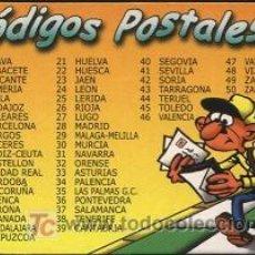 Coleccionismo Calendarios: CALENDARIO CÓDIGOS POSTALES-2003. Lote 3046863