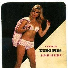 Coleccionismo Calendarios: CALENDARIO PUBLICIDAD CERVEZAS EURO PILS , 1968 . Lote 22904010