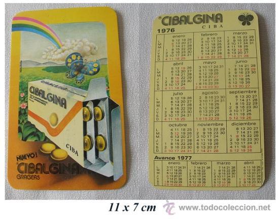 CALENDARIO 1976 CIBALGINA DE CIBA CON AVANCE DE 1977 (Coleccionismo - Calendarios)