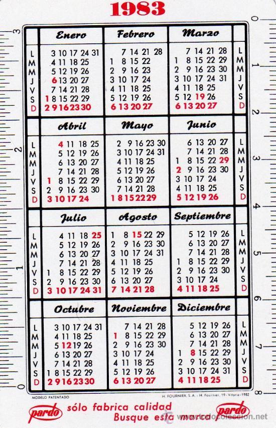 Calendario europeo vintage 2008