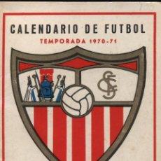 Coleccionismo Calendarios: CALENDARIO DE FUTBOL TEMPORADA 1970-71. AL DORSO PUBLICIDAD DE SAIMAZA. Lote 23328224