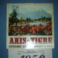 Coleccionismo Calendarios: CALENDARIO DE PARED TAMAÑO 380X250 ANIS DEL TIGRE AÑO 1956. Lote 10892263