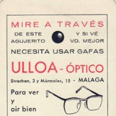 Coleccionismo Calendarios: CALENDARIO DE MANO AÑO 1968 - ULLOA OPTICO . Lote 11552702