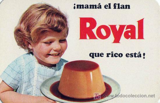 CALENDARIO DE MANO AÑO 1970 - FLAN ROYAL (Coleccionismo - Calendarios)
