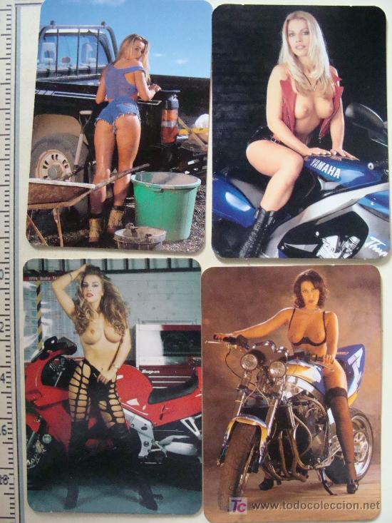5 CALENDARIOS ERÓTICOS, DESNUDOS MUJERES CON MOTOS. YAMAHA, HARLEY DAVIDSON, PICK UP . (Coleccionismo - Calendarios)