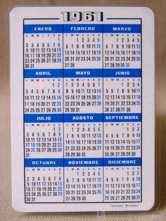 Calendario Del 1961.Calendario 1961 Hoechst Iberica Medicamentos C Sold
