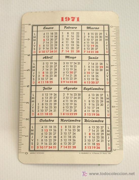 Coleccionismo Calendarios: Calendario Fournier. Banco de Bilbao. 1971. - Foto 2 - 24176326