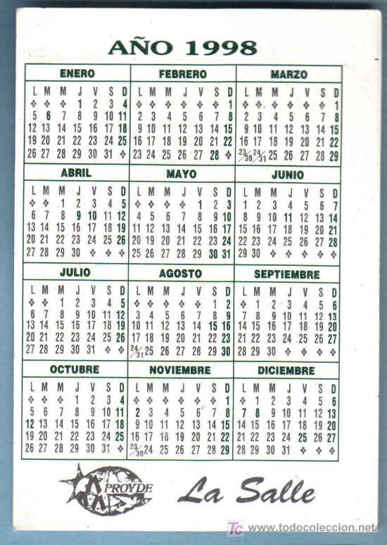 1998 Calendario.Calendario 1998 La Salle