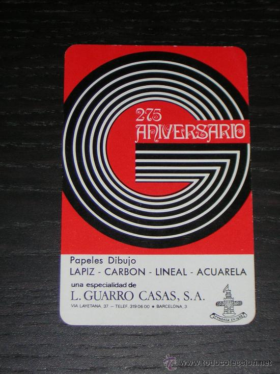 1973 - CALENDARIO H. FOURNIER - L. GUARRO CASAS (Coleccionismo - Calendarios)