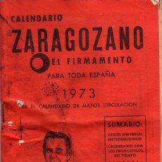 Coleccionismo Calendarios: CALENDARIO ZARAGOZANO-EL FIRMAMENTO-1973.. Lote 20686086