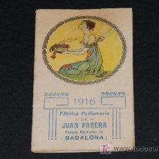 Coleccionismo Calendarios: ALMANAQUE ILUSTRADO FBCA. PERFUMERÍA JUAN PARERA - AÑO 1916. Lote 12468312