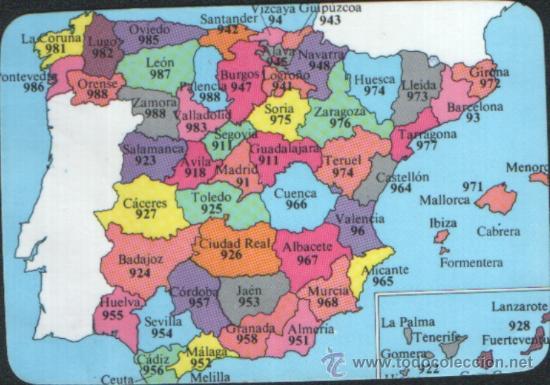 calendario del ao 1988 mapa de espaa provin  Comprar
