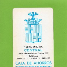 Coleccionismo Calendarios: CAJA AHORROS MONTE PIEDAD BARCELONA. CAIXA BARCELONA. MONT PIETAT. CALENDARIO. 1973. LA CAIXA.. Lote 27120116