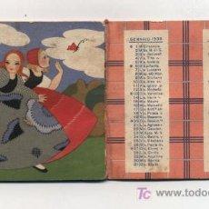 Coleccionismo Calendarios: CALENDARIO PARA 1935.PUBLICIDAD DE SALVIOL 12 PAGS. EN ITALIANO. Lote 21424884
