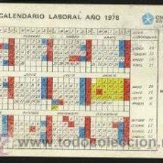 Coleccionismo Calendarios: CALENDARIO PUBLICITARIO ( CALENDARIO LABORAL ) 1978. Lote 13020584