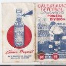 Coleccionismo Calendarios: CALENDARIO DE FUTBOL -CAMPEONATO DE LIGA PRIMERA DIVISION 1945-46 **MARTINI ROSSI**. Lote 13102426