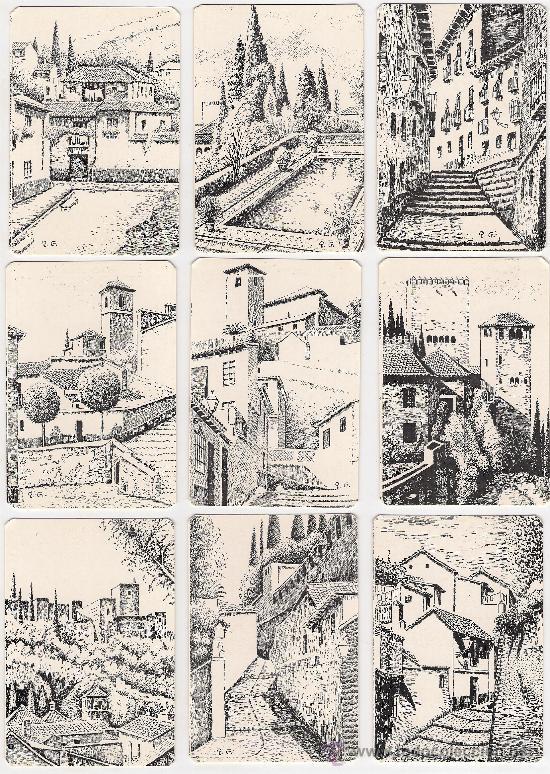 -58983 18 CALENDARIOS PINTURAS GRANADA, AÑO 2000, RINCONES Y MONUMENTOS, NUMERADOS (Coleccionismo - Calendarios)