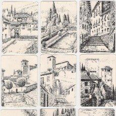 Coleccionismo Calendarios: -58983 18 CALENDARIOS PINTURAS GRANADA, AÑO 2000, RINCONES Y MONUMENTOS, NUMERADOS. Lote 13257294