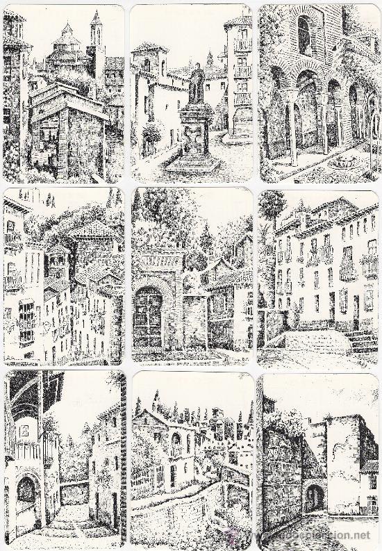 -41284 18 CALENDARIOS PINTURAS GRANADA, AÑO 2001, RINCONES Y MONUMENTOS, NUMERADOS, PINTOR R.G. (Coleccionismo - Calendarios)